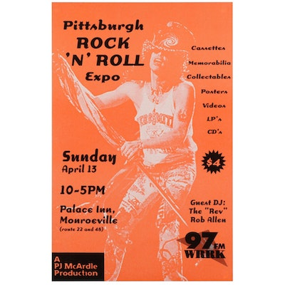 "The ""Rev"" Rob Allen Commemorative Pittsburgh Rock 'N' Roll Expo Poster"