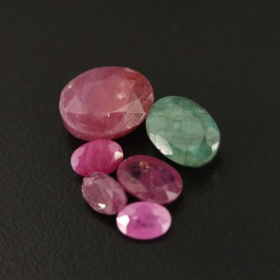 Loose Oval Faceted Corundums and Beryls
