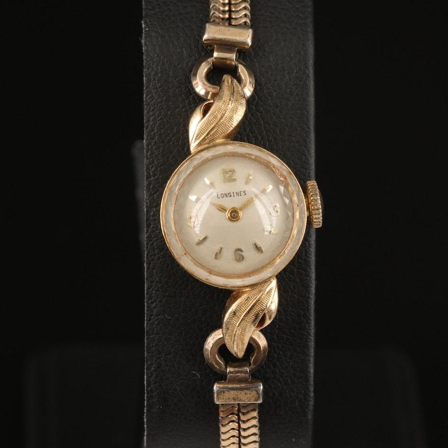 Vintage Longines 14K Yellow Gold Wristwatch