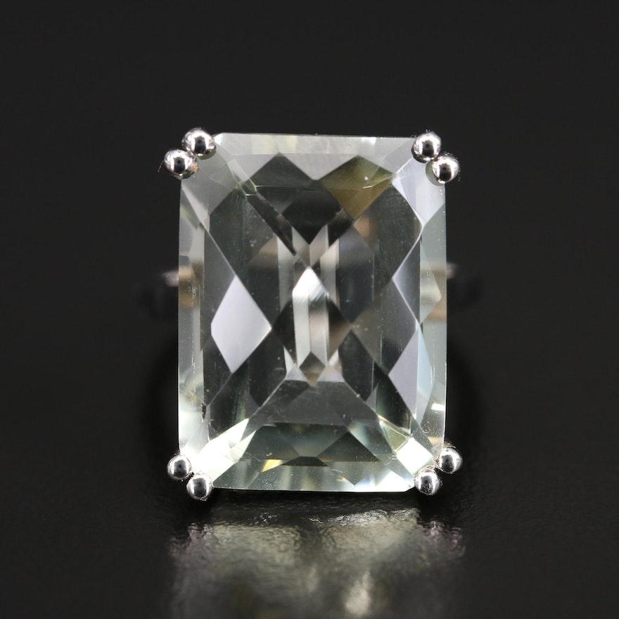 Sterling Prasiolite Ring