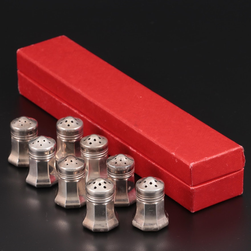 Cartier Sterling Silver Salt and Pepper Shakers, Mid to Late 20th Century