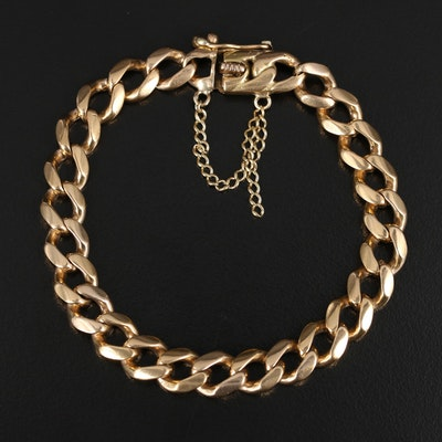 Vintage 18K Curb Link Bracelet