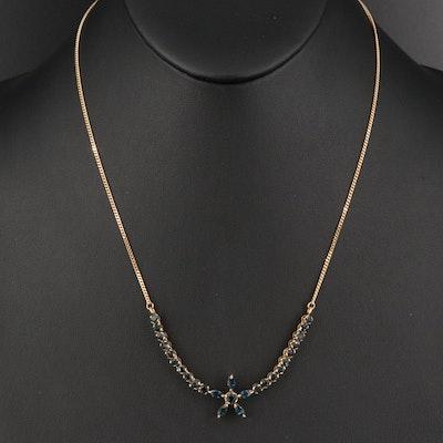 Italian 14K Sapphire Necklace