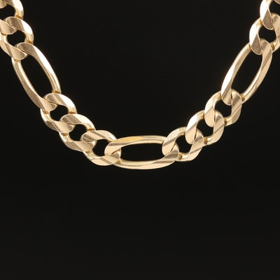 Italian 14K Figaro Chain Necklace