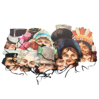 H. & P. Decorations Reproduction Victorian Paper Masks