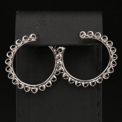 "Di Modolo ""Triadra Argento"" Sterling Hoop Earrings"