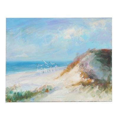 "Nino Pippa Oil Painting ""Southern Florida - Sand Dunes"""