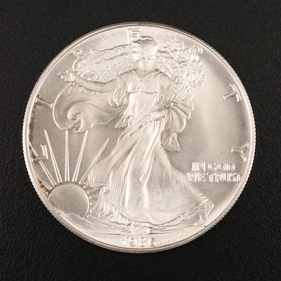 Key Date First Year of Issue 1986 $1 American Silver Eagle Bullion Coin