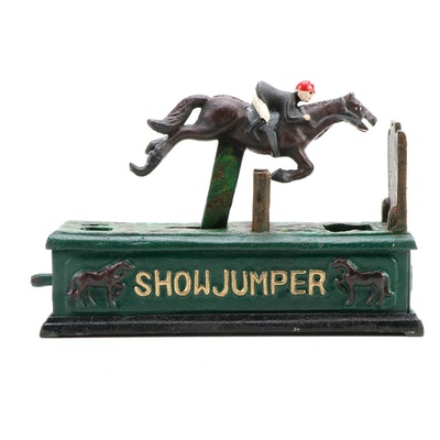 "Contemporary ""Show Jumper"" Cast Iron Bank"
