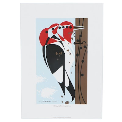 "Offset Lithograph after Charley Harper ""Headbanger,"" 21st Century"