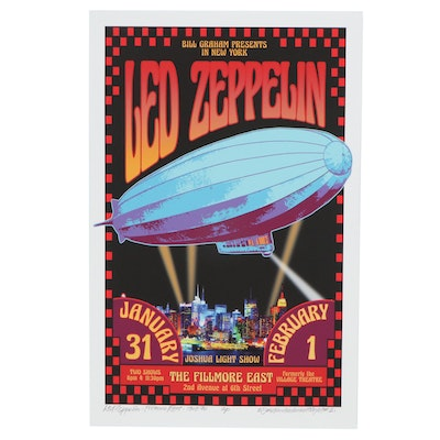 "David Edward Byrd Giclée ""Led Zeppelin - Fillmore Fast - 1969-70,"" 2021"