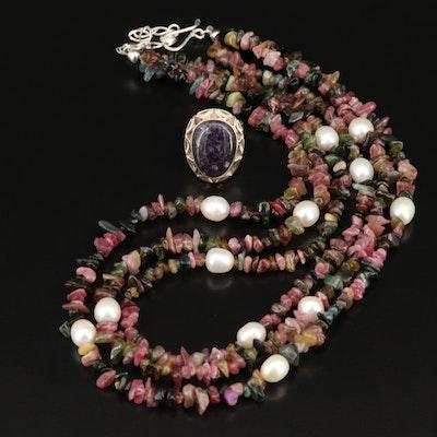 Desert Rose Trading Sterling Gemstone Necklace and Ring