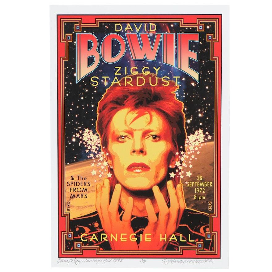 "David Edward Byrd Giclée ""Bowie/Ziggy - Carnegie Hall -1972,"" 2021"