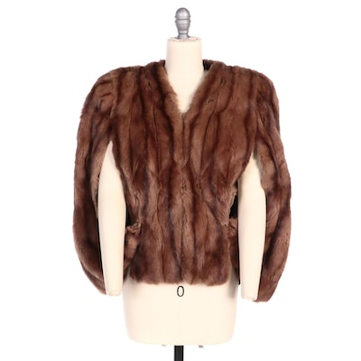 Mahogany Dyed Squirrel Fur Capelet From Hahne & Co.