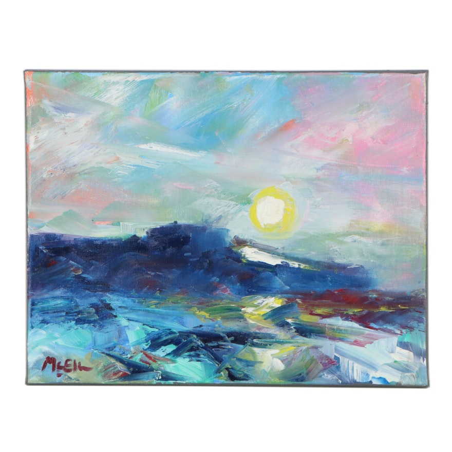 "Claire McElveen Oil Painting ""Sun Gold,"" 2021"
