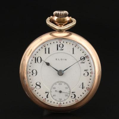 """1904 Elgin """"Overland"""" Gold Filled Pocket Watch"""
