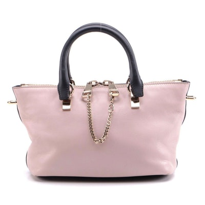 Chloé Baylee Bicolor Leather Mini Two-Way Tote