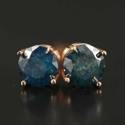 14K 1.47 CTW Diamond Stud Earrings