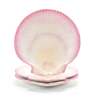 Wedgwood Nautilus Pink Pearlware Scallop Plates