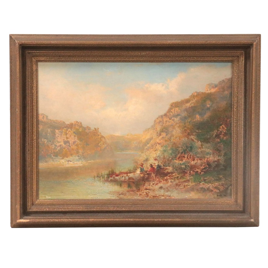 Landscape Oil Painting, circa 1885