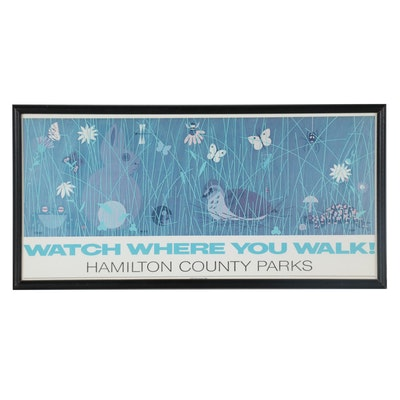 """Offset Lithograph after Edie Harper """"Watch Where You Walk!"""""""