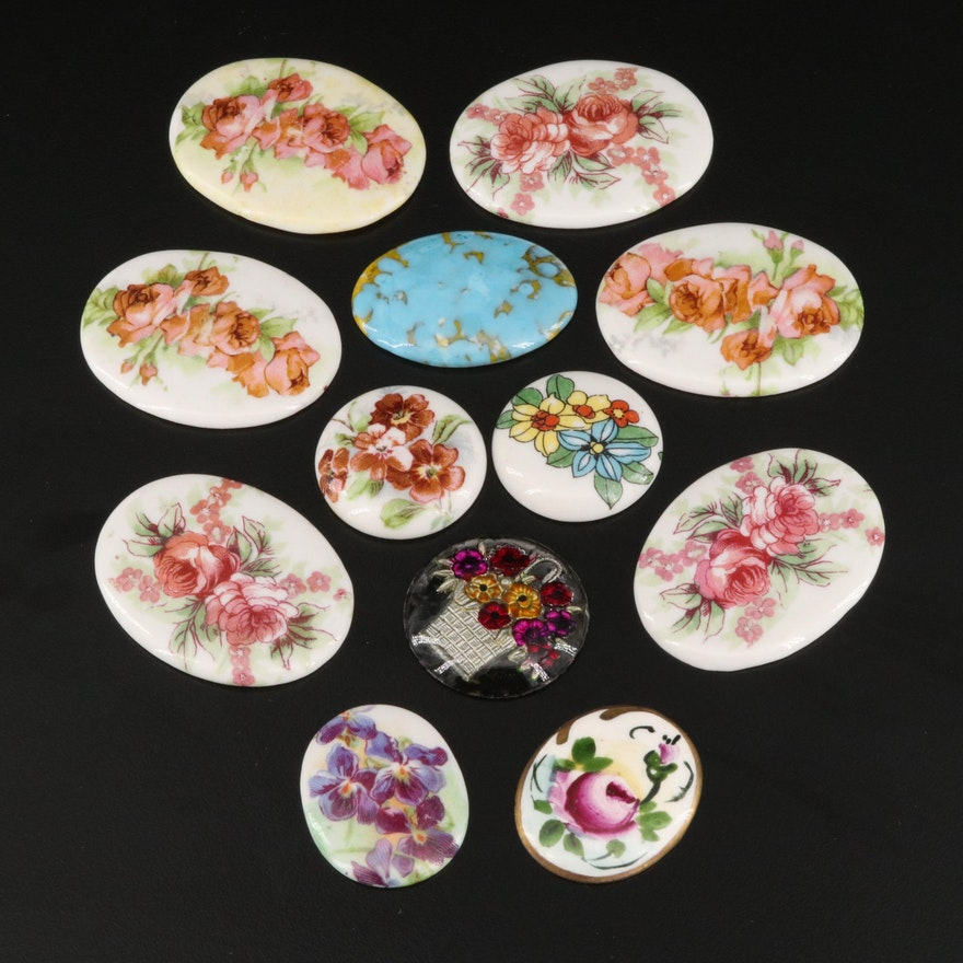 Loose Ceramic and Glass Jewelry Components