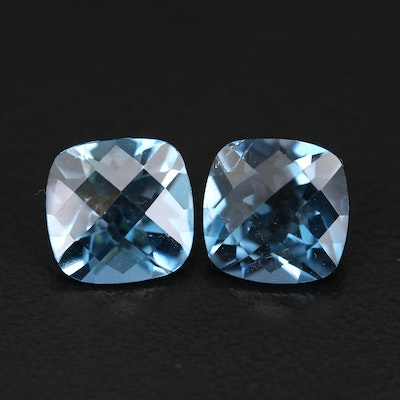 Loose Matched Pair 7.46 CTW London Blue Topaz