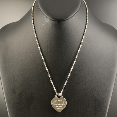 "Tiffany & Co. ""Return to Tiffany"" Sterling Bead Chain Necklace"