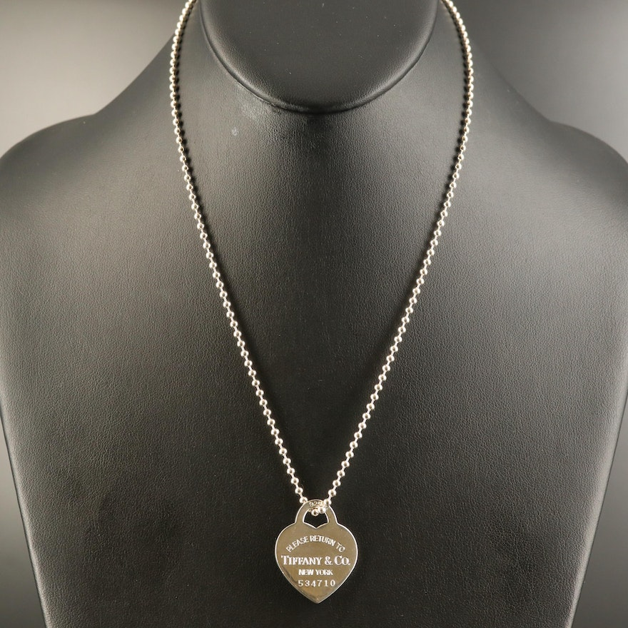 """Tiffany & Co. """"Return to Tiffany"""" Sterling Bead Chain Necklace"""