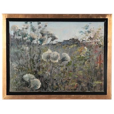 """Garncarek Aleksander Landscape Oil Painting """"Osty (Thistles),"""" 2020"""