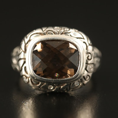 SeidenGang Sterling Smoky Quartz Ring