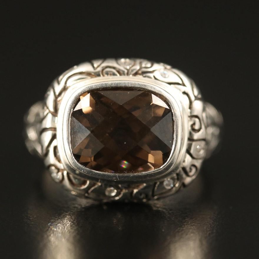 SeidenGang Sterling Smoky Quartz Ring