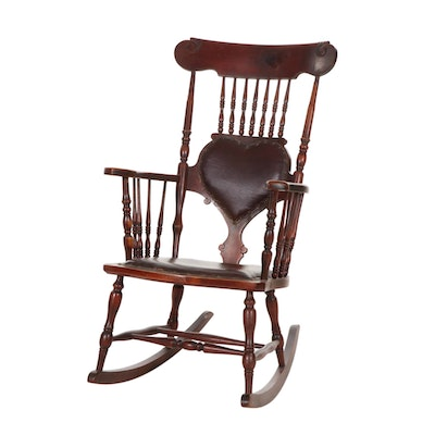 Victorian Walnut Rocking Chair, Late 19th to Early 20th Century