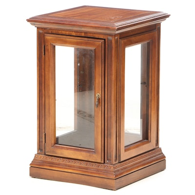 Mahogany-Stained Display Side Cabinet, Late 20th Century