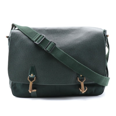 Louis Vuitton Dersou Messenger Bag in Green Epicea Taïga Leather