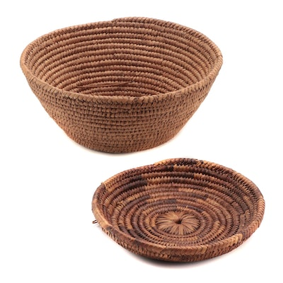 Indonesian Handwoven Coiled Basketry Bowls
