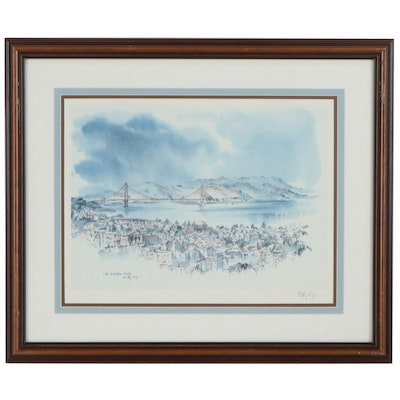 "Betty Guy Offset Lithograph ""The Golden Gate"""
