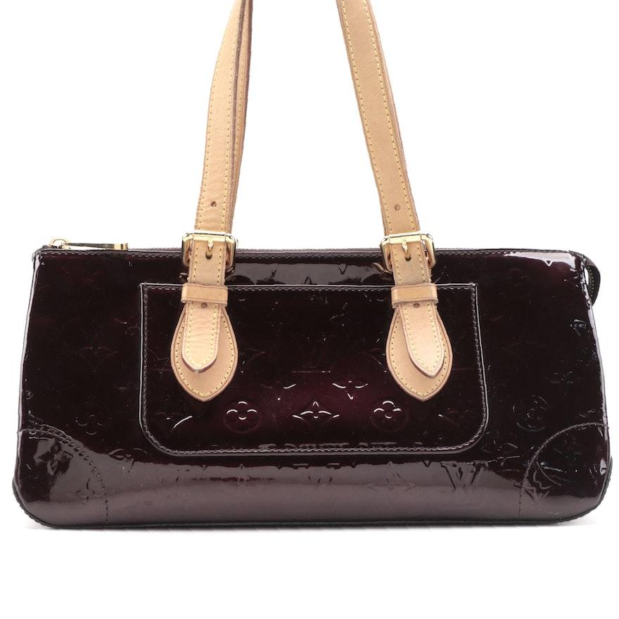 Louis Vuitton Rosewood Avenue in Amarante Vernis and Vachetta Leather