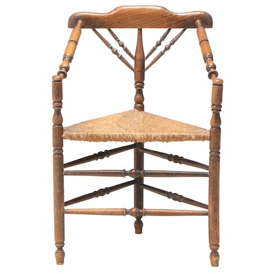 English Ash and Beech Turner's Chair, 19th Century