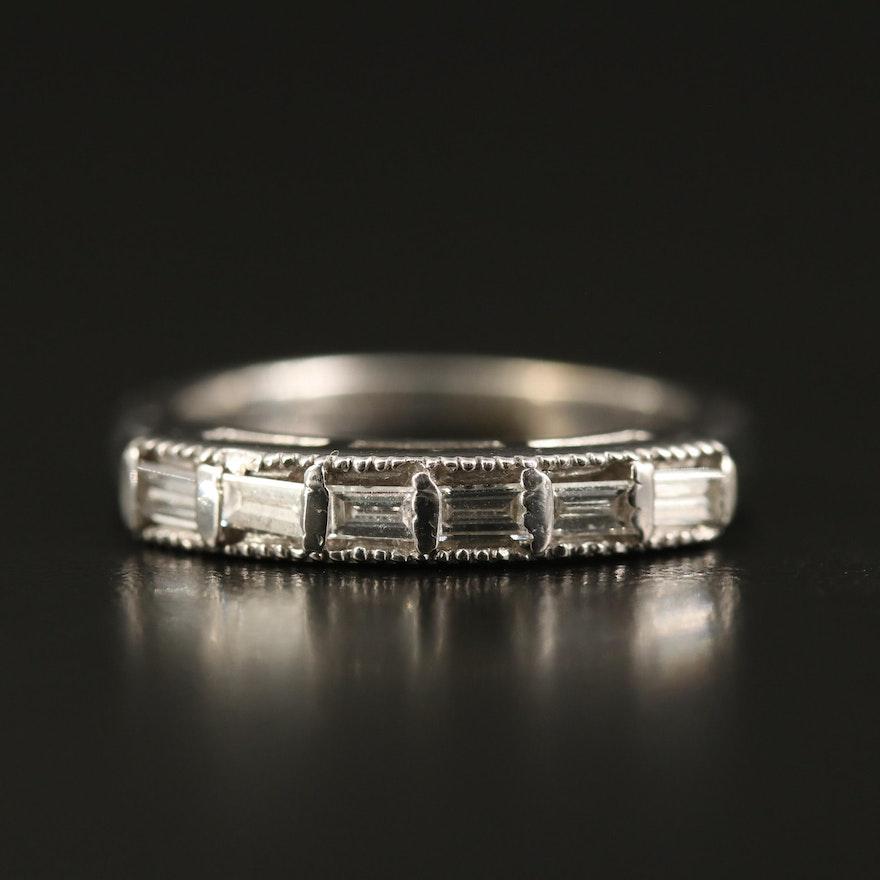 14K Diamond Ring with Milgrain Detail