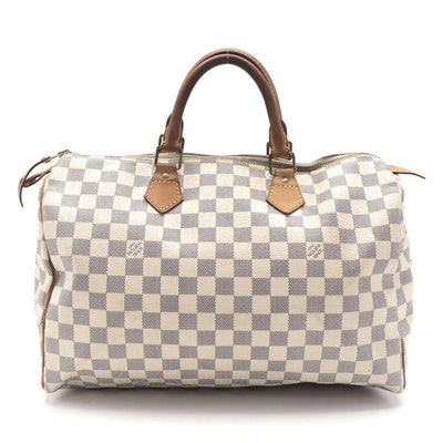 Louis Vuitton Speedy 35 in Damier Azur Coated Canvas