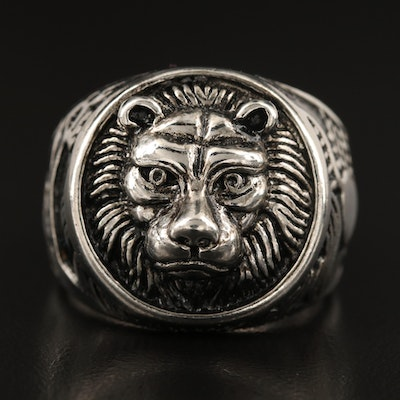 Lion, Giraffe and Heart Ring