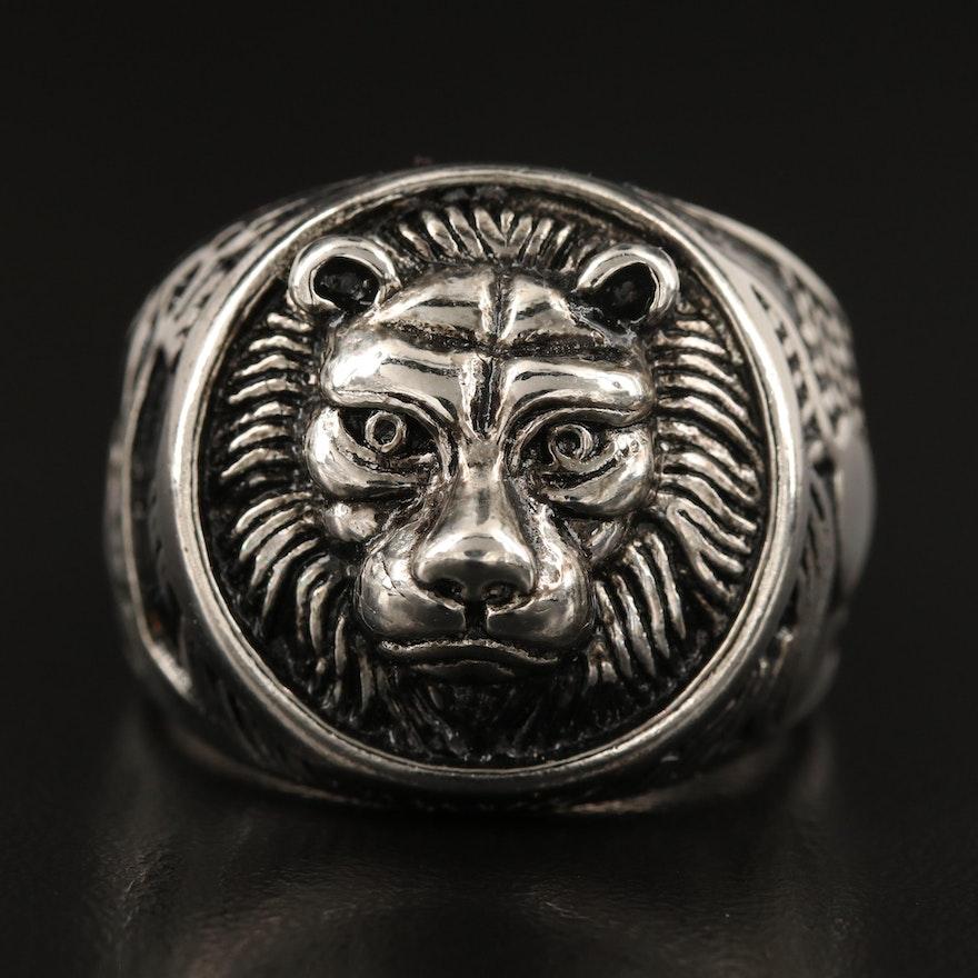 Lion, Giraffe and Heart Ring