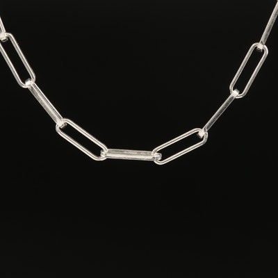 Italian Sterling Oval Link Necklace