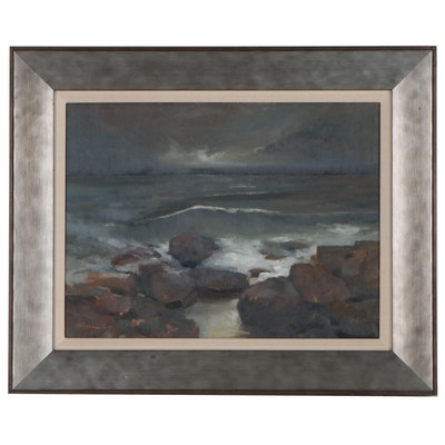 Shane Harris Seascape Oil Painting, 2020