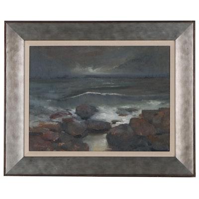 Shane Harris Seascape Oil Painting, 2020