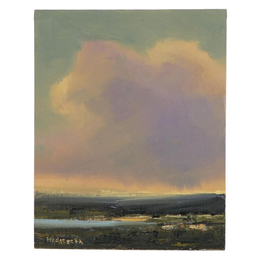 "Stephen Hedgepeth Oil Painting ""Cloud Shadows,"" 21st Century"