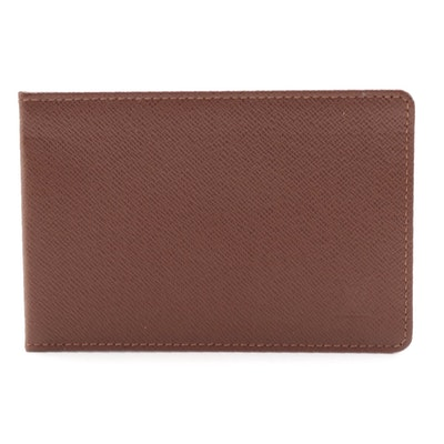 Louis Vuitton ID Case in Brown Taïga Leather