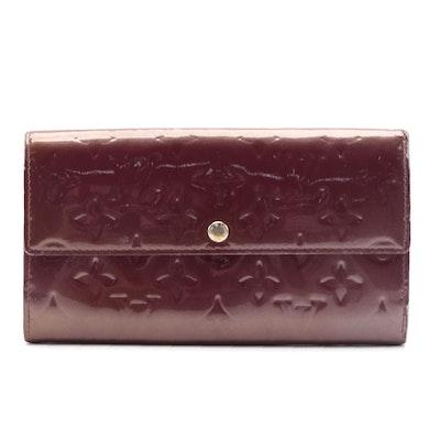 Louis Vuitton Continental Wallet in Amarante Monogram Vernis