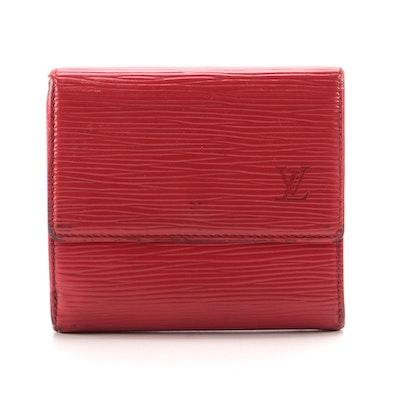 Louis Vuitton Paris Elise Wallet in Castilian Red Epi Leather